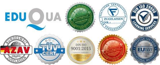 Zertifiziert und Zugelassen